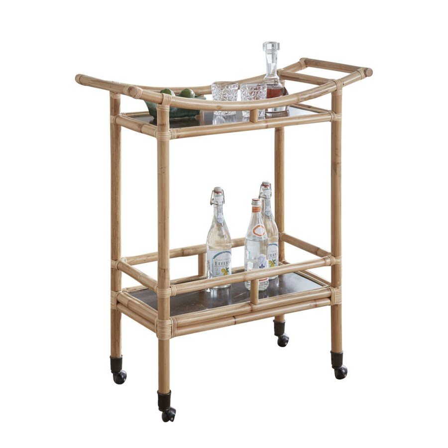 CLOSE-OUT - 25% Off! Palu Bar Cart  Frame Natural This Item Will Be Discontinued.