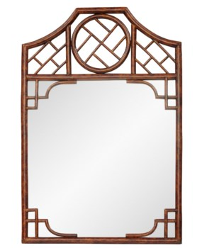Chippendale MirrorFrame Color - TortoiseMirror Size - 26.5 x 25""