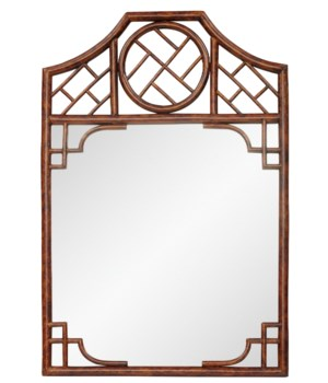 """SOLD OUT!!Chippendale MirrorFrame Color - TortoiseMirror Size - 26.5 x 25""""THIS ITEM HAS BEEN DI"""