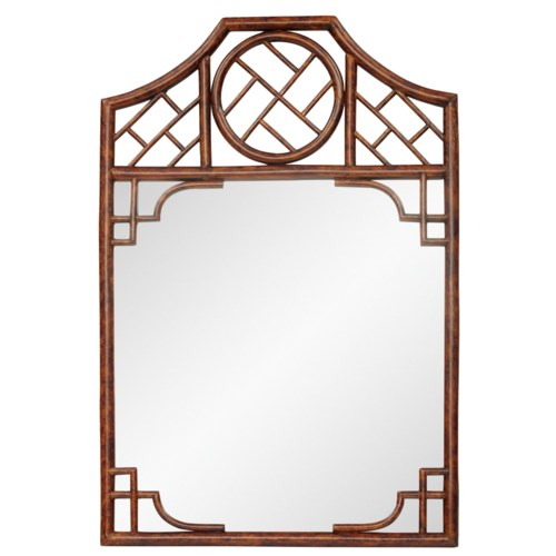 """25% OFF -Chippendale MirrorFrame Color - TortoiseMirror Size - 26.5 x 25""""Item to be Discontinue"""