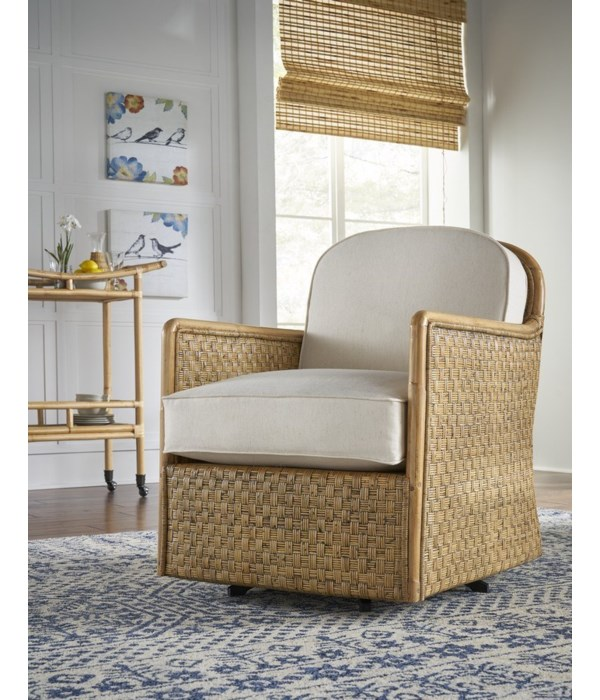 Logan Swivel Chair INCLUDES SWIVEL PART# 1824640200Woven Frame Color - Buff Cushion Color - Holly