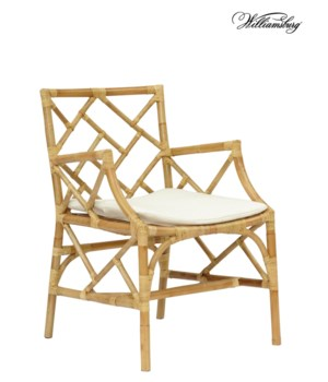 SOLD OUT - 25% Off!Bassett Hall Arm ChairFrame Color -NaturalCushion Color - Holly WhiteAll Clo