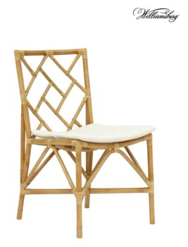 Bassett Hall Side ChairFrame Color - NaturalCushion Color -  Holly White