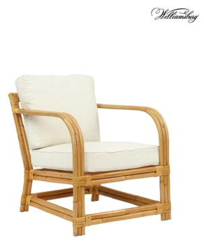 Bassett Hall Club ChairFrame Color - NaturalCushion Color -  Holly White