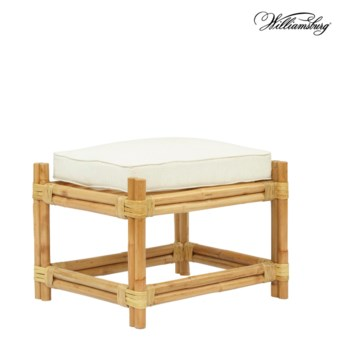 Bassett Hall OttomanFrame Color - NaturalCushion Color -  Holly White