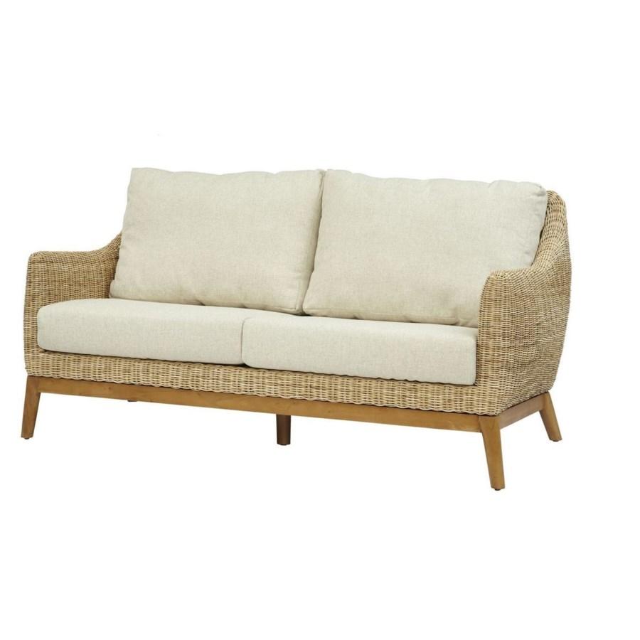 CLOSE-OUT - 15% Off!Metropolitan SetteeFrame Color - Natural Weave Color - Natural Cushion Color