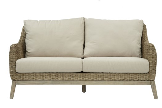 Metropolitan SetteeStone Weave, Gray FrameCushion Color - Linen(Originally $995.00)Item to be d