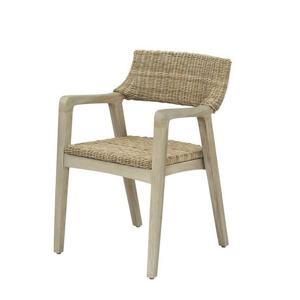 Urbane Arm Chair  Frame Color - Old Gray Woven Seat & Back Color - Stone CLOSE-OUT - 50% OFF!SO