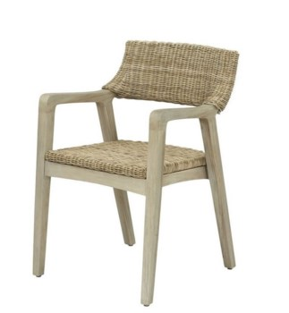 Urbane Arm Chair Frame Color - GrayStone Woven Seat and Back
