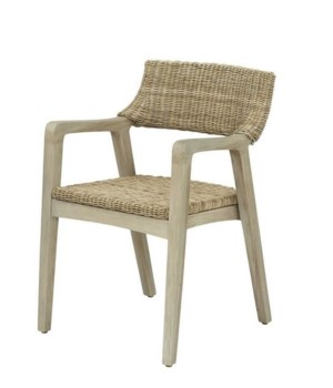 Urbane Arm Chair Frame Color - Old GrayWoven Seat & Back Color - Stone