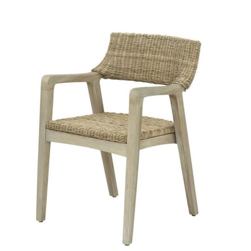CLOSE-OUT - 25% Off! Urbane Arm Chair  Frame Color - Old Gray Woven Seat & Back Color - Stone