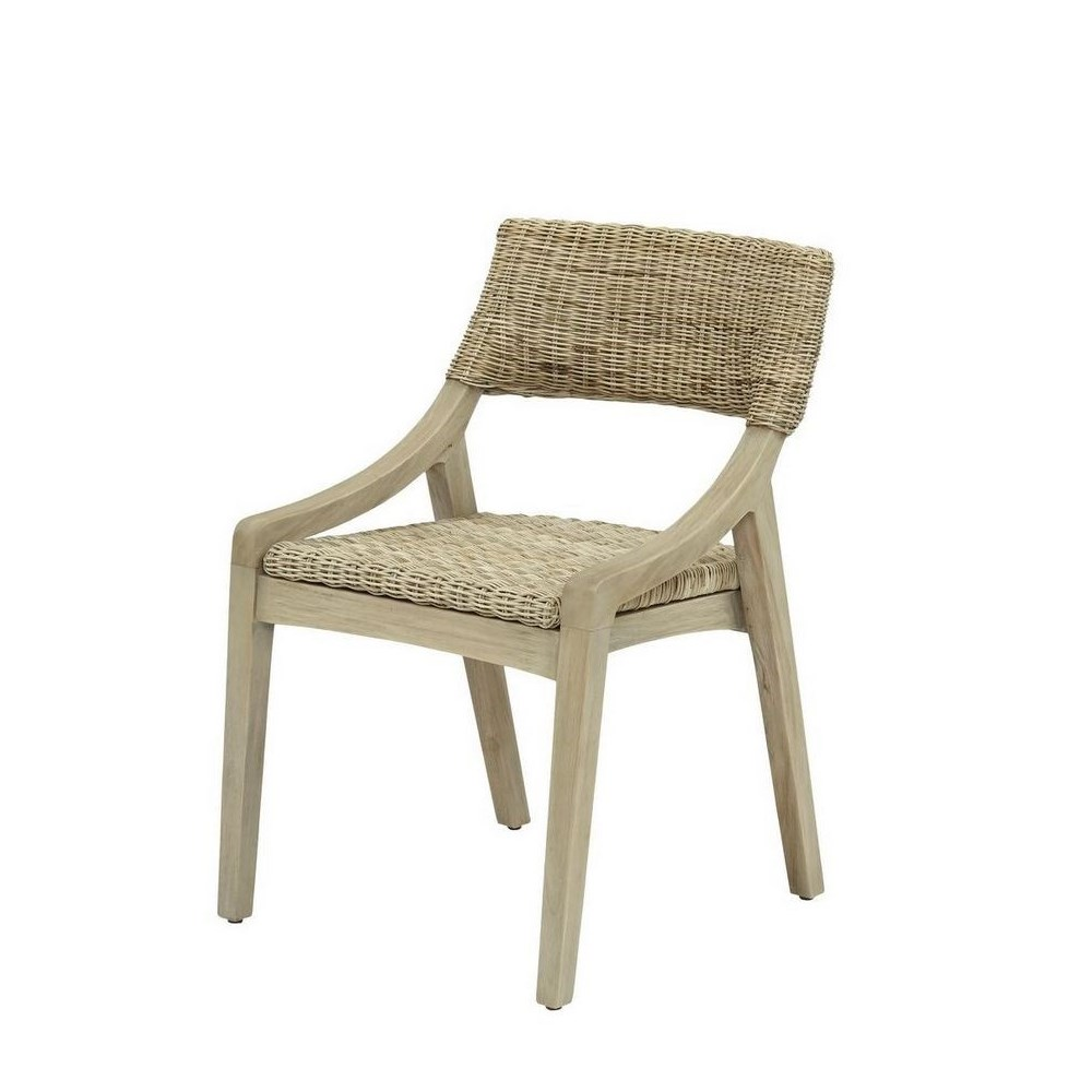 Urbane Side Chair  Frame Color - Old Gray Woven Seat & Back Color - Stone