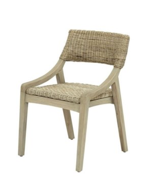 Urbane Side Chair Frame Color - Old GrayWoven Seat & Back Color - Stone