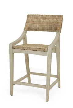 Urbane Counter Chair Frame Color - GrayStone Woven Seat and Back