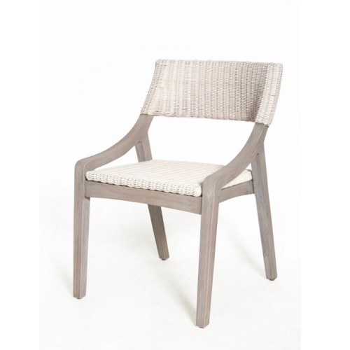 Urbane Dining Side ChairFrame Color - GrayWhite Woven Seat and Back