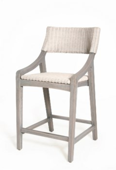 Urbane Counter ChairFrame Color -GrayWhite Woven Seat and Back