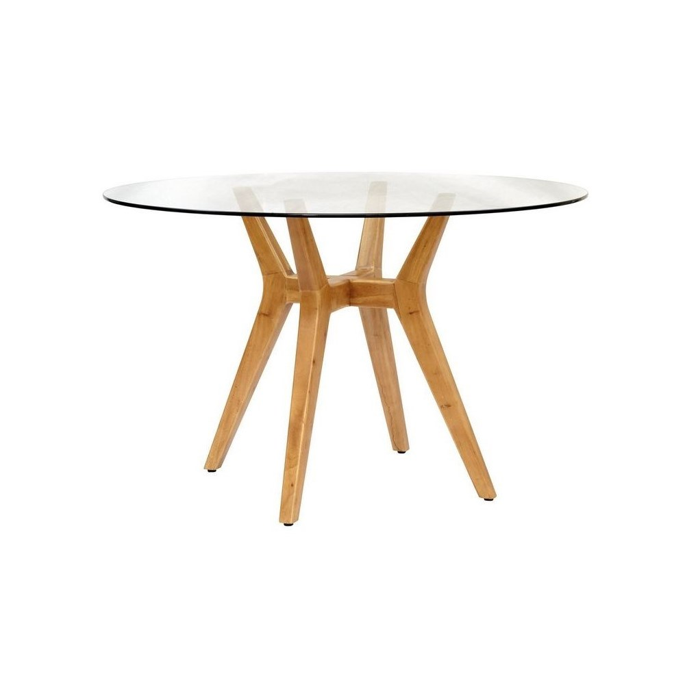 Urbane Table BaseFrame Color - Natural  Glass Top NOT Included CLOSE-OUT - 50% OFF!SOLD AS-IS