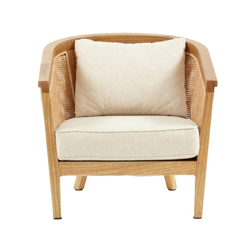 Valencia Club Chair  Frame - Mindi WoodWoven Rattan Color - Natural  Cushion Color -  Cream