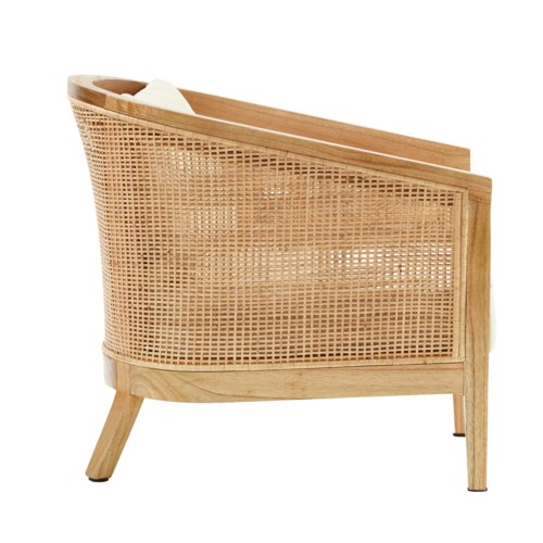Valencia Club Chair  Frame - Mindi WoodWoven Rattan Color - Natural  Cushion Color -  Cream