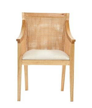 Valencia Arm Chair Woven Rattan Color - Natural Cushion Color - Cream