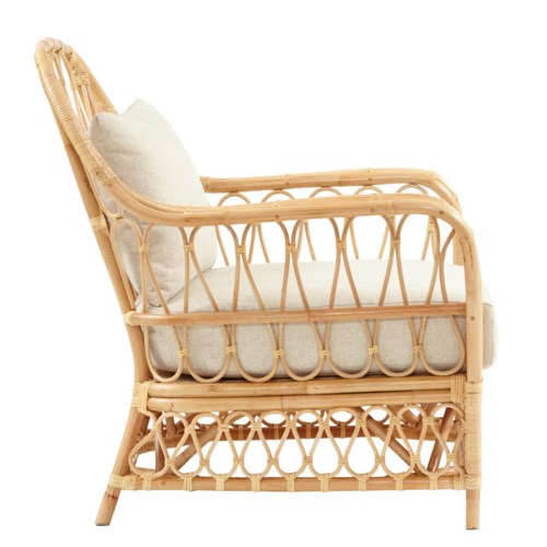 Bar Harbor Club Chair Color - Natural Cushion Color - Cream