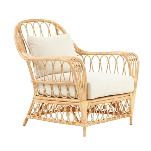 Bar Harbor Chair Color - Natural  Cushion Color - Cream