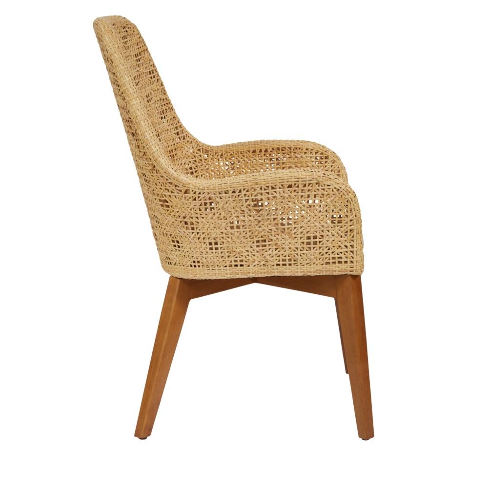 Ava Arm Chair Color - Natural Cushion Color - Cream