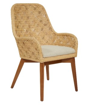 Ava Arm ChairColor - NaturalCushion Color - Cream