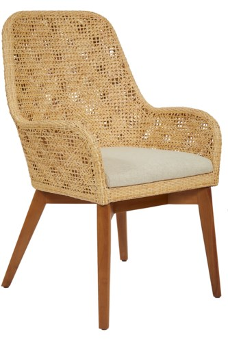 Ava Arm ChairFrame Color - NaturalCushion Color - Cream