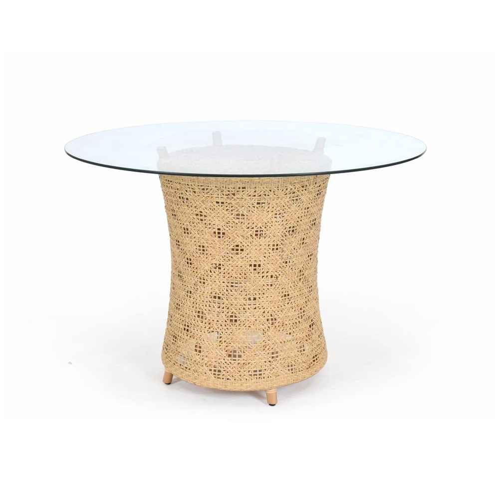 Ava Table Base Woven Rattan Table Base Color - Natural (Glass Top NOT Included) CLOSE-OUT - 50