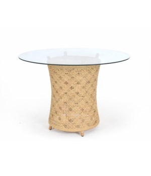 Ava Table BaseWoven Rattan Table BaseColor - Natural