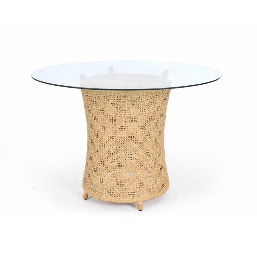 Ava Table BaseWoven Rattan Table BaseColor - Natural