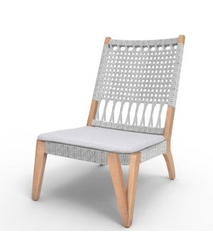 Bermuda Lounge ChairMahogany Wood Frame Color - NaturalPoly Rope - White TaupeCushion Color - Lig