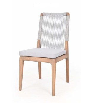 Bermuda Dining Chair Polyolefin WrapColor - Natural Light Gray