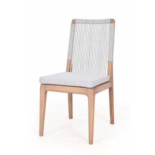 Bermuda Dining Chair Polyolefin WrapColor - Natural Light Gray