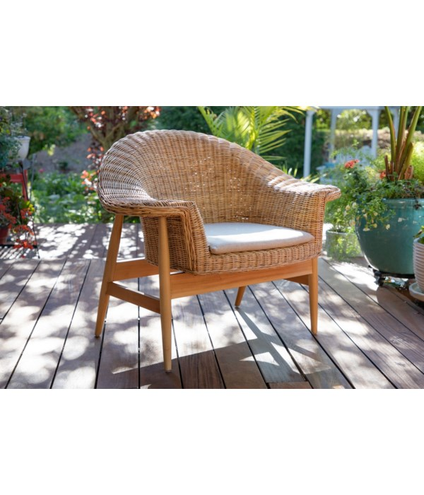 Mystic Chair Mindi Frame Color - Natural Cushion Color - Cream