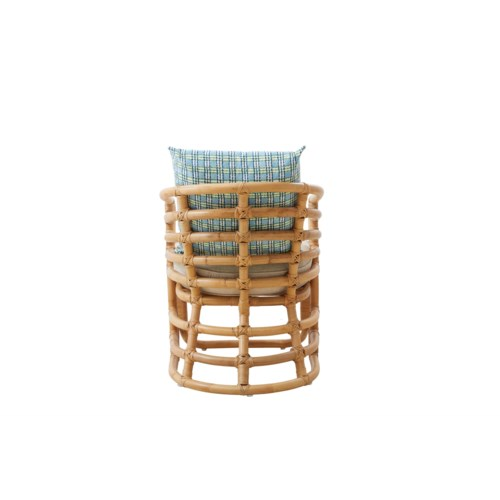 Boat Chair Rattan Vintage Reproduction Color - Antique Honey Cushion Color - Cream