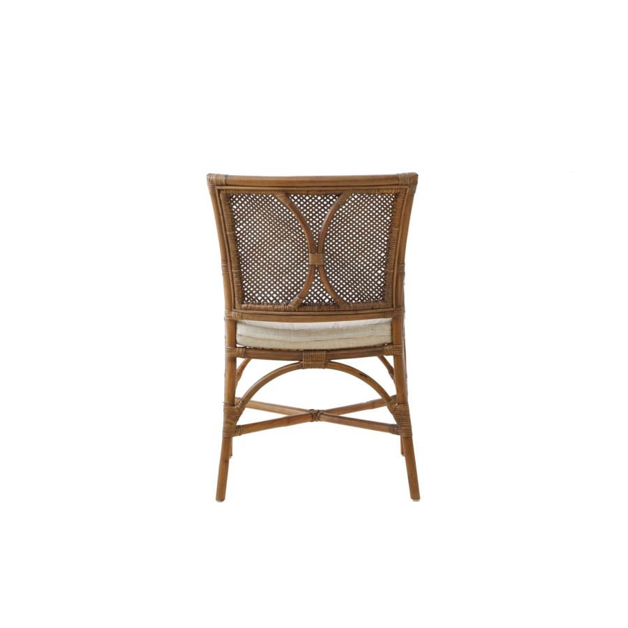 Java Arm Chair Frame Color - Honey Brown Cushion Color - Cream