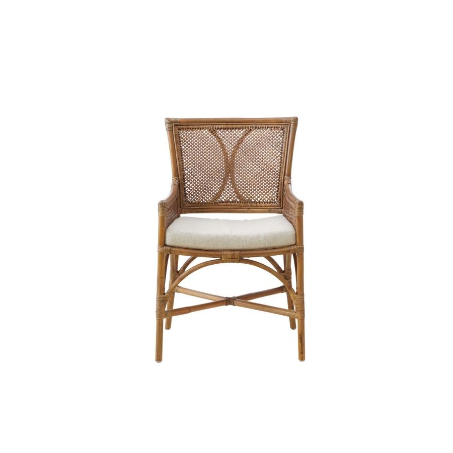 Java Arm ChairFrame Color - Honey BrownCushion Color - Cream