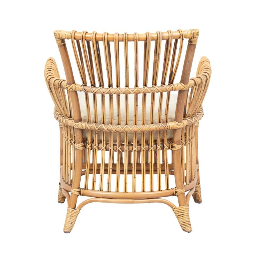 Boho Arm Chair Color - Honey Brown Cushion Color - Cream