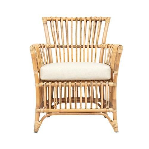 Boho Arm ChairColor - Honey BrownCushion Color - Cream