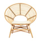 Boho Round Chair KD Color - Honey Brown Cushion Color - Cream Some Assembly RequiredCLOSE-OUT