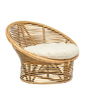 Boho Egg ChairRattan Frame Color - Honey BrownCushion Color - Cream