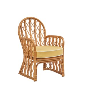 Mahogany Bay Arm Chair Rattan Frame - Natural Cushion Color - Cream