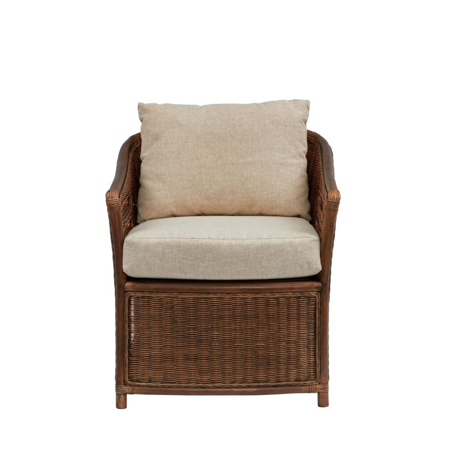 Captains Chair Frame Color - Ginger Cushion Color - Cream Jarrett Bay Collection