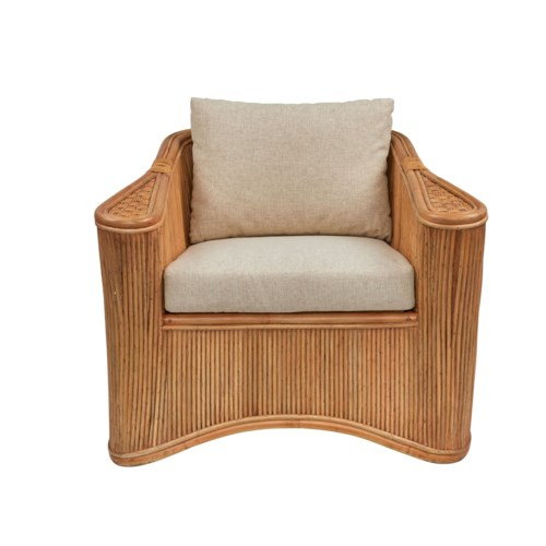 Admirals Club Chair Frame Color - Buff  Cushion Color - Cream Jarrett Bay Collection