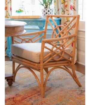 Harbor Arm Chair  Frame Color - Buff  Cushion Color - Cream Jarrett  Bay Collection