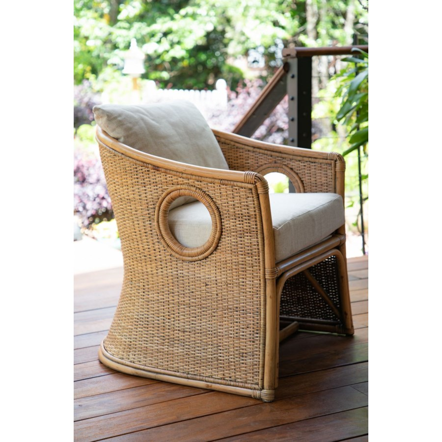Cuddy Chair  Frame Color - Buff     Cushion Color - Cream Jarrett Bay Collection