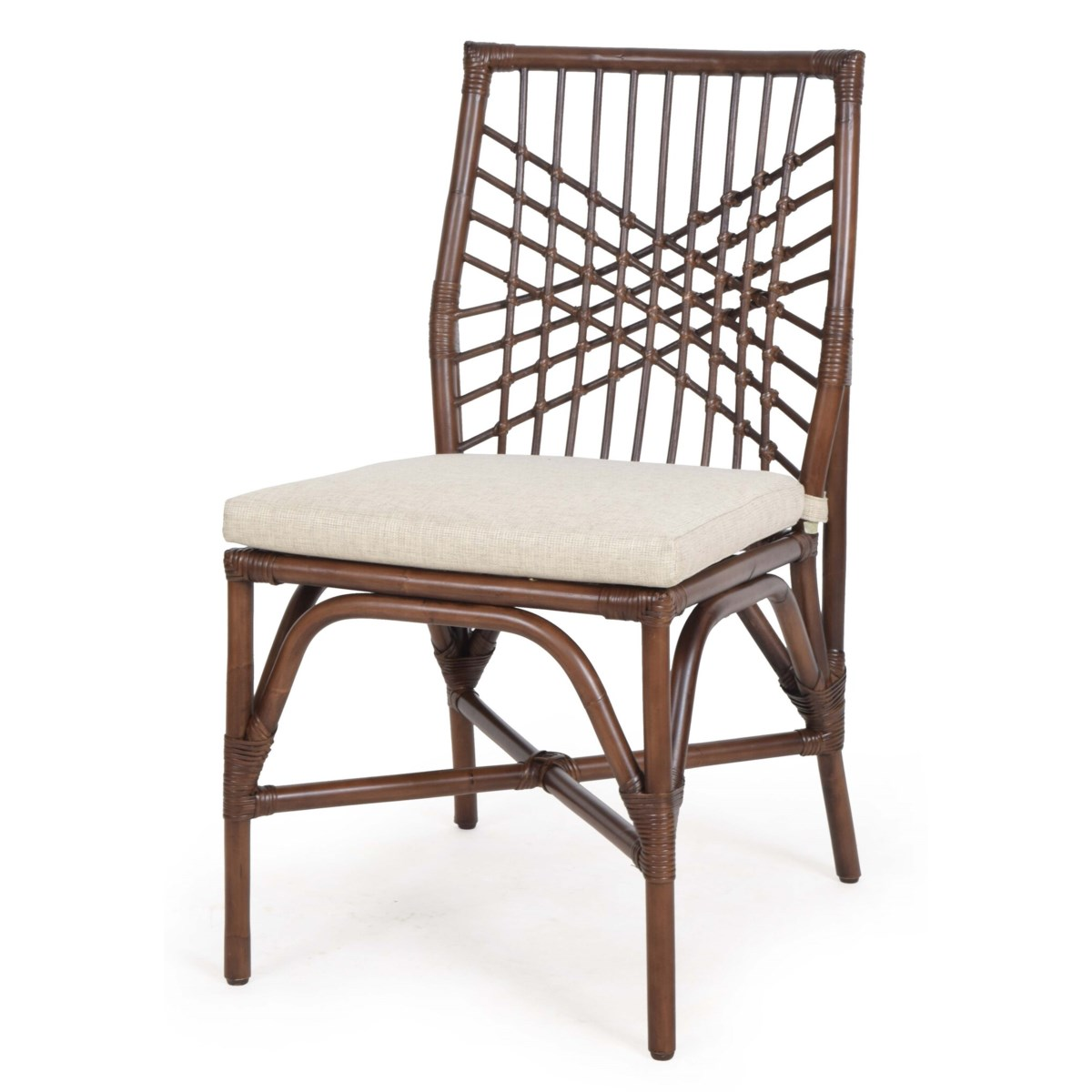 Harper Side  Chair Sold in Pairs OnlyFrame Color - Tobacco Cushion Color - Cream
