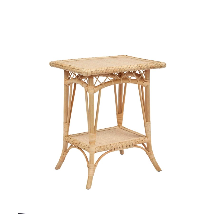 Charleston Side Table Frame - Rattan Color - Natural